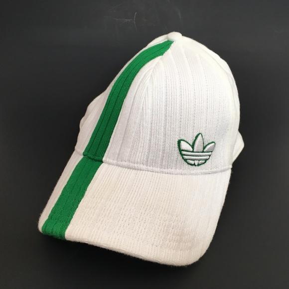 e8ac2ec0 adidas Accessories | Trefoil Logo Hat Cap Brim Lxl Stripe White ...